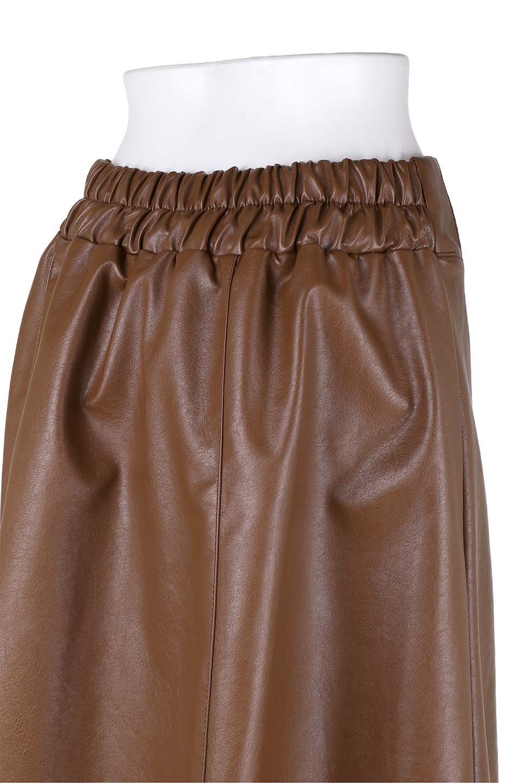 EcoLeatherSideSlitFlaredSkirtサイドスリット入り・レザーフレアスカート大人カジュアルに最適な海外ファッションのothers(その他インポートアイテム)のボトムやスカート。注目のレーザースカート。。ジワジワと人気が出てきているアイテムです。/main-11