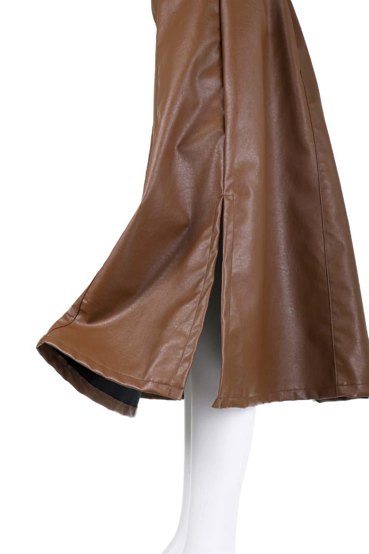 EcoLeatherSideSlitFlaredSkirtサイドスリット入り・レザーフレアスカート大人カジュアルに最適な海外ファッションのothers(その他インポートアイテム)のボトムやスカート。注目のレーザースカート。ジワジワと人気が出てきているアイテムです。/main-13
