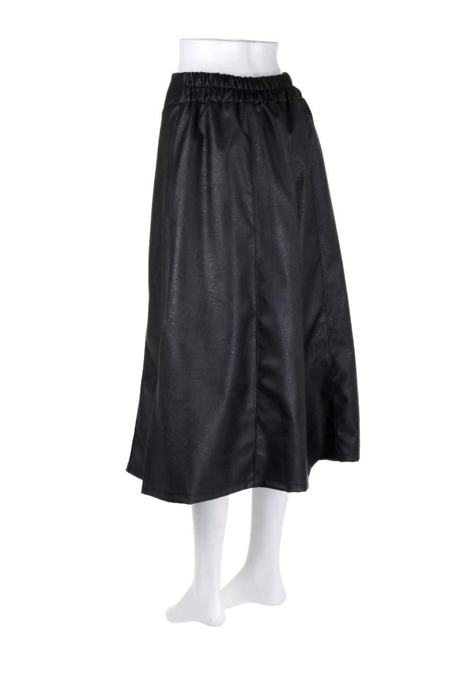 EcoLeatherSideSlitFlaredSkirtサイドスリット入り・レザーフレアスカート大人カジュアルに最適な海外ファッションのothers(その他インポートアイテム)のボトムやスカート。注目のレーザースカート。ジワジワと人気が出てきているアイテムです。/main-8