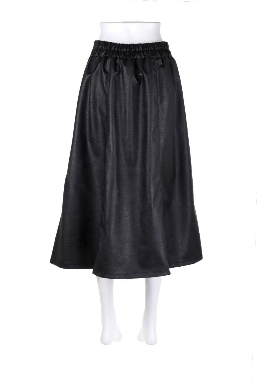 EcoLeatherSideSlitFlaredSkirtサイドスリット入り・レザーフレアスカート大人カジュアルに最適な海外ファッションのothers(その他インポートアイテム)のボトムやスカート。注目のレーザースカート。。ジワジワと人気が出てきているアイテムです。/main-9