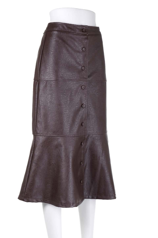EcoLeatherMermaidSkirtレザー・マーメイドスカート大人カジュアルに最適な海外ファッションのothers(その他インポートアイテム)のボトムやスカート。エレガントなシルエットのレーザースカート。大人っぽいシックなコーデが思い切り楽しめるアイテム。/main-15