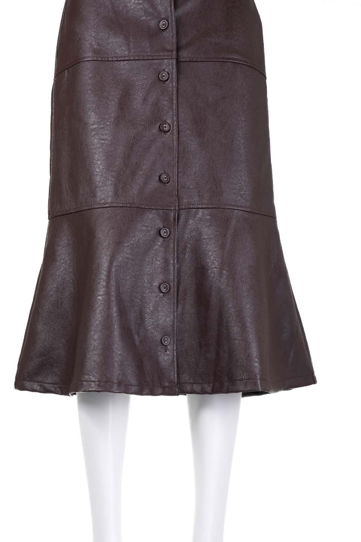 EcoLeatherMermaidSkirtレザー・マーメイドスカート大人カジュアルに最適な海外ファッションのothers(その他インポートアイテム)のボトムやスカート。エレガントなシルエットのレーザースカート。大人っぽいシックなコーデが思い切り楽しめるアイテム。/main-18