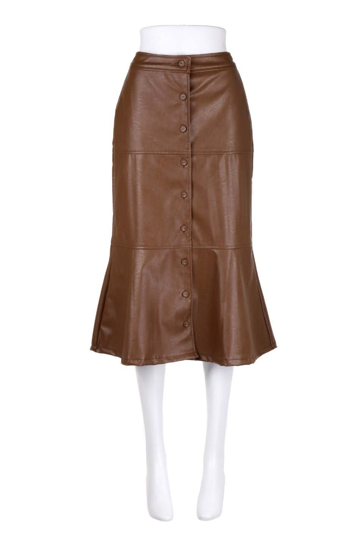 EcoLeatherMermaidSkirtレザー・マーメイドスカート大人カジュアルに最適な海外ファッションのothers(その他インポートアイテム)のボトムやスカート。エレガントなシルエットのレーザースカート。大人っぽいシックなコーデが思い切り楽しめるアイテム。/main-5