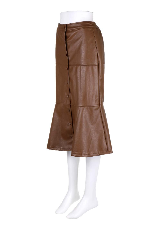 EcoLeatherMermaidSkirtレザー・マーメイドスカート大人カジュアルに最適な海外ファッションのothers(その他インポートアイテム)のボトムやスカート。エレガントなシルエットのレーザースカート。大人っぽいシックなコーデが思い切り楽しめるアイテム。/main-6