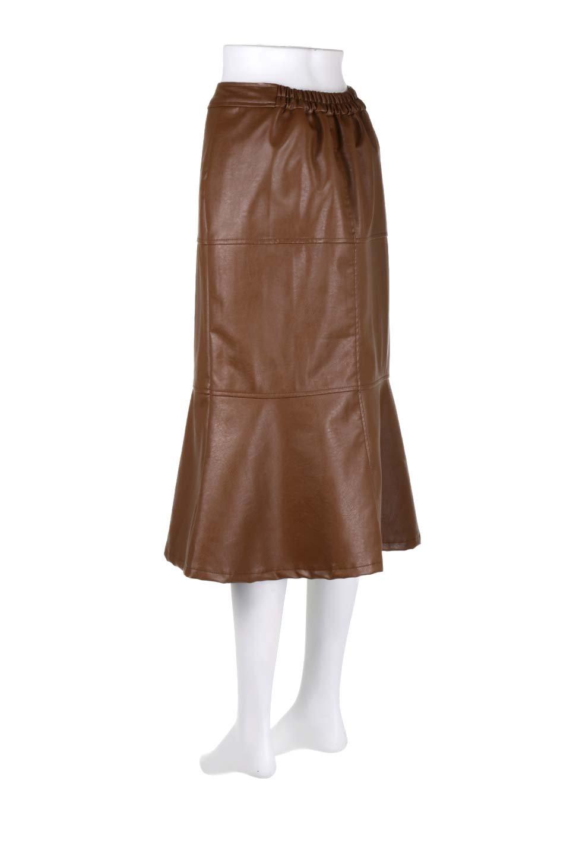 EcoLeatherMermaidSkirtレザー・マーメイドスカート大人カジュアルに最適な海外ファッションのothers(その他インポートアイテム)のボトムやスカート。エレガントなシルエットのレーザースカート。大人っぽいシックなコーデが思い切り楽しめるアイテム。/main-8