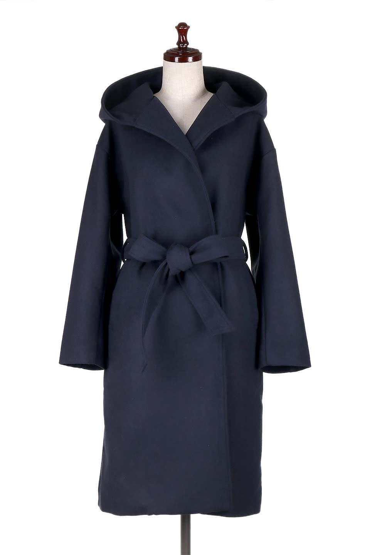 MeltonGownHoodedCoatメルトン・ガウンコート大人カジュアルに最適な海外ファッションのothers(その他インポートアイテム)のアウターやコート。大きなフードが可愛いポイントのガウンコート。身幅に関係なく羽織れるのが人気のガウンコート。/main-10