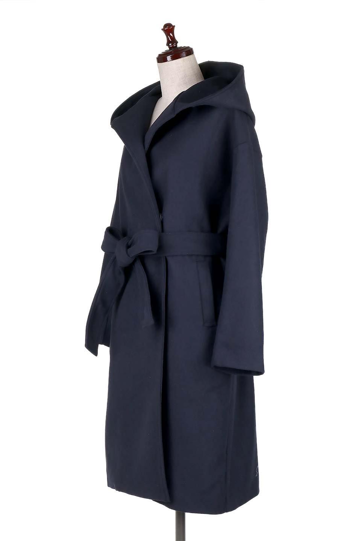 MeltonGownHoodedCoatメルトン・ガウンコート大人カジュアルに最適な海外ファッションのothers(その他インポートアイテム)のアウターやコート。大きなフードが可愛いポイントのガウンコート。身幅に関係なく羽織れるのが人気のガウンコート。/main-11