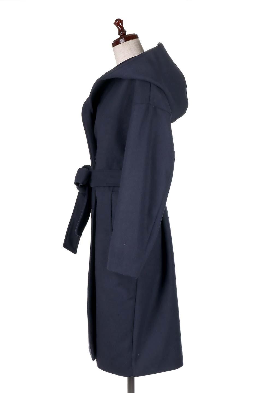 MeltonGownHoodedCoatメルトン・ガウンコート大人カジュアルに最適な海外ファッションのothers(その他インポートアイテム)のアウターやコート。大きなフードが可愛いポイントのガウンコート。身幅に関係なく羽織れるのが人気のガウンコート。/main-12