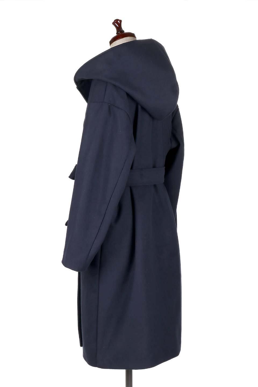 MeltonGownHoodedCoatメルトン・ガウンコート大人カジュアルに最適な海外ファッションのothers(その他インポートアイテム)のアウターやコート。大きなフードが可愛いポイントのガウンコート。身幅に関係なく羽織れるのが人気のガウンコート。/main-13