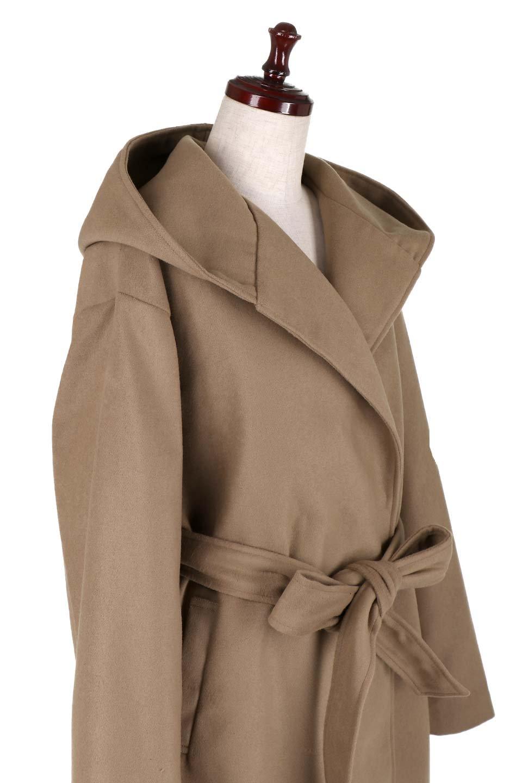 MeltonGownHoodedCoatメルトン・ガウンコート大人カジュアルに最適な海外ファッションのothers(その他インポートアイテム)のアウターやコート。大きなフードが可愛いポイントのガウンコート。身幅に関係なく羽織れるのが人気のガウンコート。/main-15