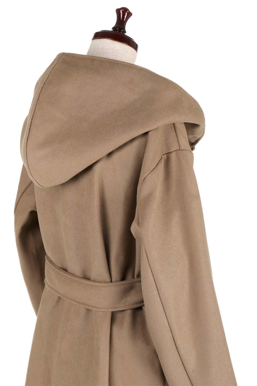MeltonGownHoodedCoatメルトン・ガウンコート大人カジュアルに最適な海外ファッションのothers(その他インポートアイテム)のアウターやコート。大きなフードが可愛いポイントのガウンコート。身幅に関係なく羽織れるのが人気のガウンコート。/main-16