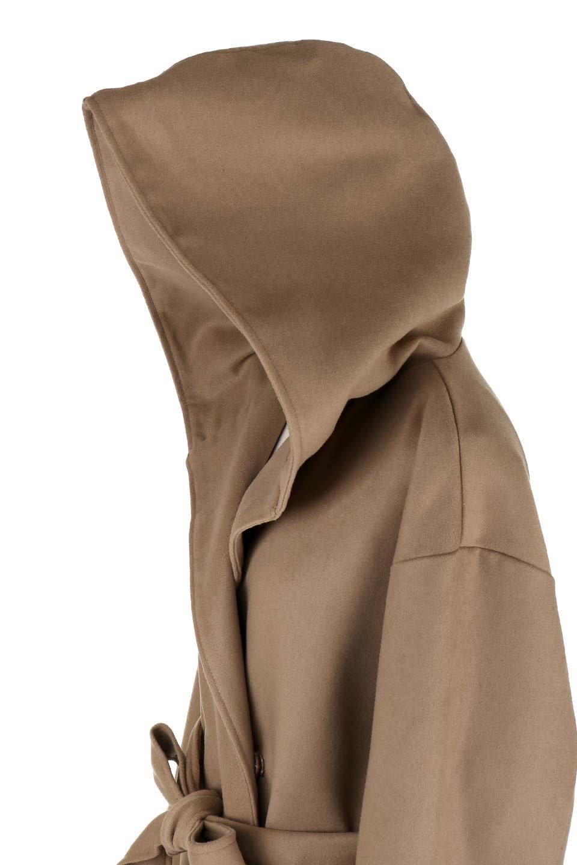MeltonGownHoodedCoatメルトン・ガウンコート大人カジュアルに最適な海外ファッションのothers(その他インポートアイテム)のアウターやコート。大きなフードが可愛いポイントのガウンコート。身幅に関係なく羽織れるのが人気のガウンコート。/main-17