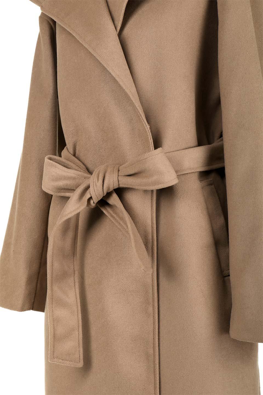 MeltonGownHoodedCoatメルトン・ガウンコート大人カジュアルに最適な海外ファッションのothers(その他インポートアイテム)のアウターやコート。大きなフードが可愛いポイントのガウンコート。身幅に関係なく羽織れるのが人気のガウンコート。/main-18