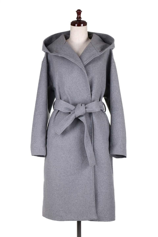 MeltonGownHoodedCoatメルトン・ガウンコート大人カジュアルに最適な海外ファッションのothers(その他インポートアイテム)のアウターやコート。大きなフードが可愛いポイントのガウンコート。身幅に関係なく羽織れるのが人気のガウンコート。/main-5