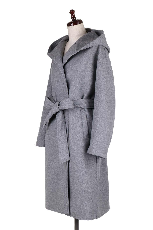 MeltonGownHoodedCoatメルトン・ガウンコート大人カジュアルに最適な海外ファッションのothers(その他インポートアイテム)のアウターやコート。大きなフードが可愛いポイントのガウンコート。身幅に関係なく羽織れるのが人気のガウンコート。/main-6