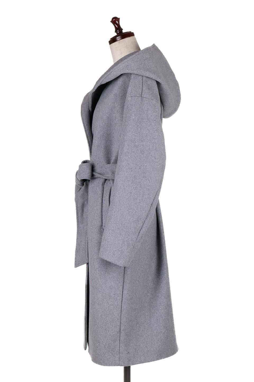 MeltonGownHoodedCoatメルトン・ガウンコート大人カジュアルに最適な海外ファッションのothers(その他インポートアイテム)のアウターやコート。大きなフードが可愛いポイントのガウンコート。身幅に関係なく羽織れるのが人気のガウンコート。/main-7