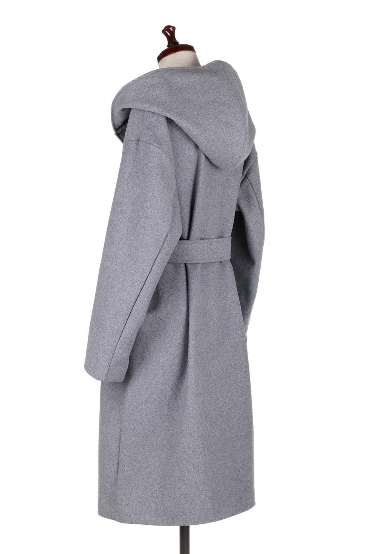MeltonGownHoodedCoatメルトン・ガウンコート大人カジュアルに最適な海外ファッションのothers(その他インポートアイテム)のアウターやコート。大きなフードが可愛いポイントのガウンコート。身幅に関係なく羽織れるのが人気のガウンコート。/main-8