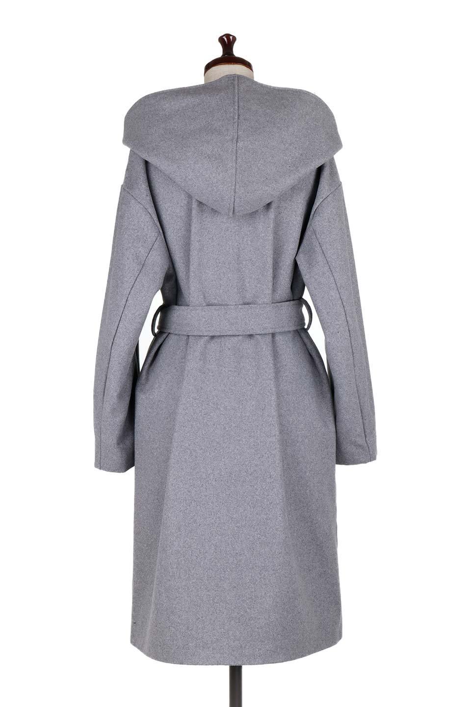 MeltonGownHoodedCoatメルトン・ガウンコート大人カジュアルに最適な海外ファッションのothers(その他インポートアイテム)のアウターやコート。大きなフードが可愛いポイントのガウンコート。身幅に関係なく羽織れるのが人気のガウンコート。/main-9