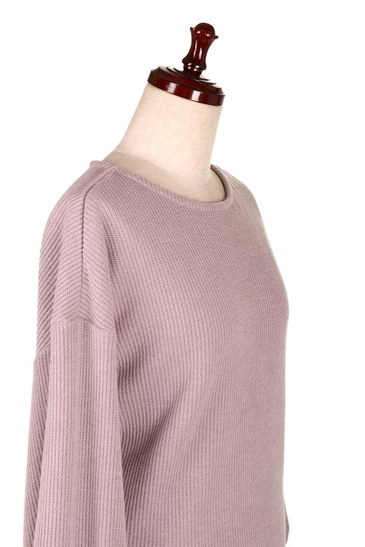 SmoothLiningKnitTopスムース裏地ニットソー大人カジュアルに最適な海外ファッションのothers(その他インポートアイテム)のトップスやニット・セーター。フワフワ裏地の肌触りがポイントのシンプルニットソー。袖が膨らんだビショップスリーブですが、袖口がやや長めでアウターも合わせやすいデザインです。/main-20
