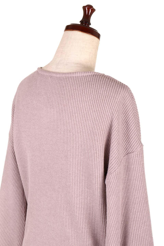 SmoothLiningKnitTopスムース裏地ニットソー大人カジュアルに最適な海外ファッションのothers(その他インポートアイテム)のトップスやニット・セーター。フワフワ裏地の肌触りがポイントのシンプルニットソー。袖が膨らんだビショップスリーブですが、袖口がやや長めでアウターも合わせやすいデザインです。/main-21