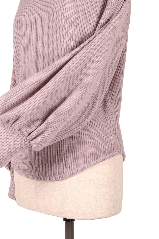 SmoothLiningKnitTopスムース裏地ニットソー大人カジュアルに最適な海外ファッションのothers(その他インポートアイテム)のトップスやニット・セーター。フワフワ裏地の肌触りがポイントのシンプルニットソー。袖が膨らんだビショップスリーブですが、袖口がやや長めでアウターも合わせやすいデザインです。/main-23