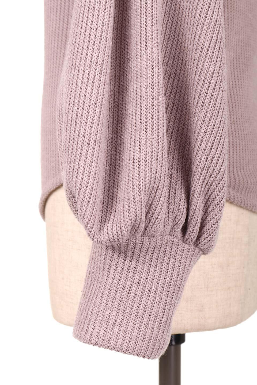 SmoothLiningKnitTopスムース裏地ニットソー大人カジュアルに最適な海外ファッションのothers(その他インポートアイテム)のトップスやニット・セーター。フワフワ裏地の肌触りがポイントのシンプルニットソー。袖が膨らんだビショップスリーブですが、袖口がやや長めでアウターも合わせやすいデザインです。/main-24