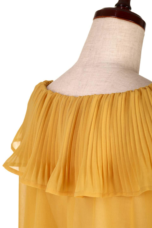 PleatedFrillCollarBlouseプリーツフリル・シフォンブラウス大人カジュアルに最適な海外ファッションのothers(その他インポートアイテム)のトップスやシャツ・ブラウス。プリーツ入りのフリルの襟がガーリーなシフォンブラウス。合わせやすい着丈の長さ可愛らしいキャンディースリーブもオススメポイント。/main-16