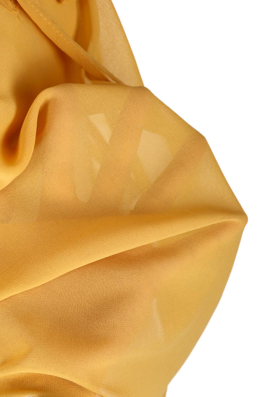 PleatedFrillCollarBlouseプリーツフリル・シフォンブラウス大人カジュアルに最適な海外ファッションのothers(その他インポートアイテム)のトップスやシャツ・ブラウス。プリーツ入りのフリルの襟がガーリーなシフォンブラウス。合わせやすい着丈の長さ可愛らしいキャンディースリーブもオススメポイント。/main-20