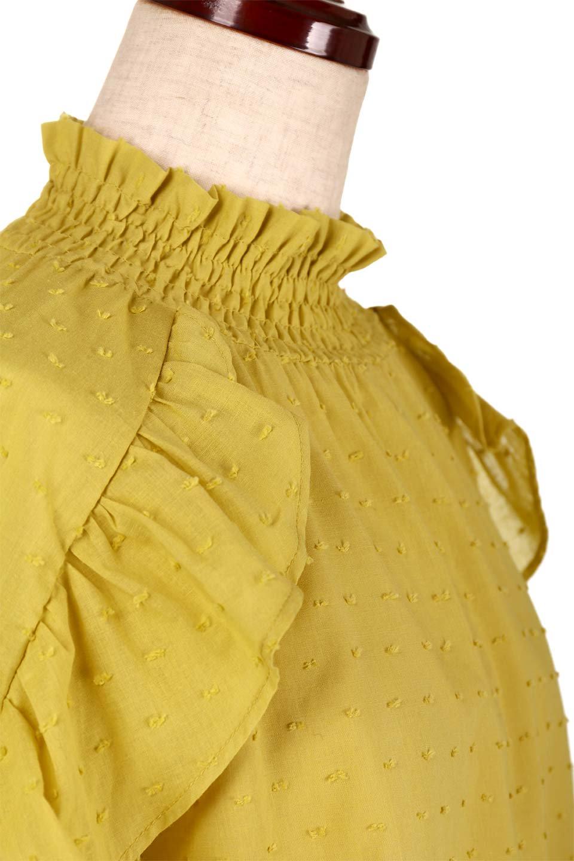 ShirringKneckFrillBlouseシャーリングネック・フリルブラウス大人カジュアルに最適な海外ファッションのothers(その他インポートアイテム)のトップスやシャツ・ブラウス。シャーリングの首もとが可愛いキャンディースリーブのブラウス。ネップが入った生地やシャーリングの首元、フリルが飾られたキャンディースリーブ・・・可愛いパーツが散りばめられたブラウスです。/main-16