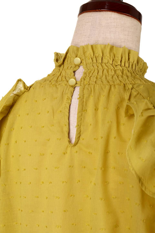 ShirringKneckFrillBlouseシャーリングネック・フリルブラウス大人カジュアルに最適な海外ファッションのothers(その他インポートアイテム)のトップスやシャツ・ブラウス。シャーリングの首もとが可愛いキャンディースリーブのブラウス。ネップが入った生地やシャーリングの首元、フリルが飾られたキャンディースリーブ・・・可愛いパーツが散りばめられたブラウスです。/main-17