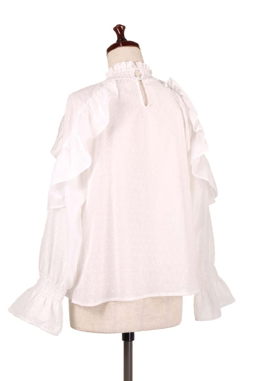 ShirringKneckFrillBlouseシャーリングネック・フリルブラウス大人カジュアルに最適な海外ファッションのothers(その他インポートアイテム)のトップスやシャツ・ブラウス。シャーリングの首もとが可愛いキャンディースリーブのブラウス。ネップが入った生地やシャーリングの首元、フリルが飾られたキャンディースリーブ・・・可愛いパーツが散りばめられたブラウスです。/main-8