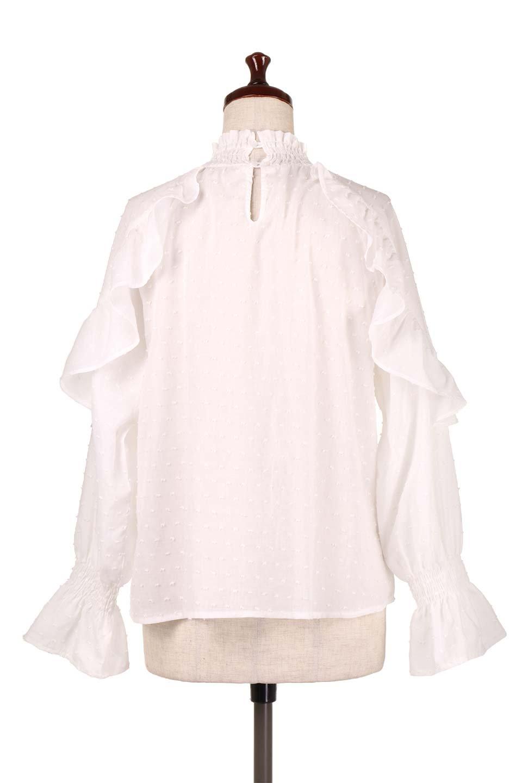 ShirringKneckFrillBlouseシャーリングネック・フリルブラウス大人カジュアルに最適な海外ファッションのothers(その他インポートアイテム)のトップスやシャツ・ブラウス。シャーリングの首もとが可愛いキャンディースリーブのブラウス。ネップが入った生地やシャーリングの首元、フリルが飾られたキャンディースリーブ・・・可愛いパーツが散りばめられたブラウスです。/main-9