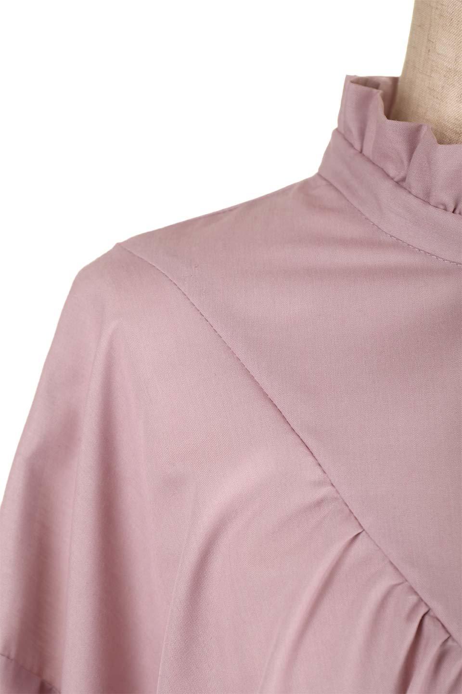 ShirringStandCollarBlouseシャーリングスタンドカラーブラウス大人カジュアルに最適な海外ファッションのothers(その他インポートアイテム)のトップスやシャツ・ブラウス。シャーリングのスタンドカラーが可愛いポイントのブラウス。胸元のVから広がるドレープでゆったりシルエットをデザインした春ブラウスです。/main-17
