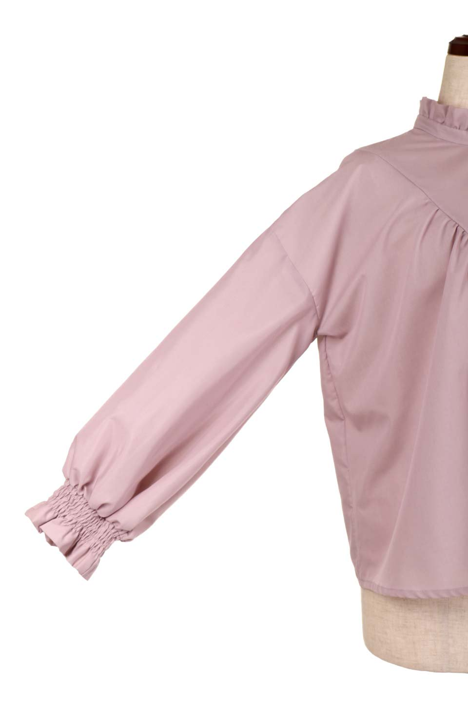 ShirringStandCollarBlouseシャーリングスタンドカラーブラウス大人カジュアルに最適な海外ファッションのothers(その他インポートアイテム)のトップスやシャツ・ブラウス。シャーリングのスタンドカラーが可愛いポイントのブラウス。胸元のVから広がるドレープでゆったりシルエットをデザインした春ブラウスです。/main-19