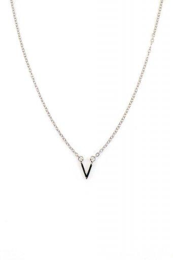 海外ファッションや大人カジュアルにオススメなインポートセレクトアイテムL.A.直輸入のDelicate V Charm Necklace (SLV) Vチャーム・ネックレス