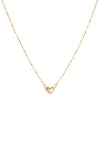 海外ファッションや大人カジュアルにオススメなインポートセレクトアイテムL.A.直輸入のAmelia Pixel Heart Necklace ハートチャーム・ネックレス