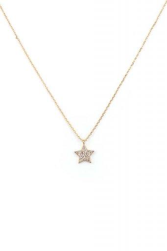 海外ファッションや大人カジュアルにオススメなインポートセレクトアイテムL.A.直輸入のDainty Star Necklace ラインストーン・スターチャーム・ネックレス