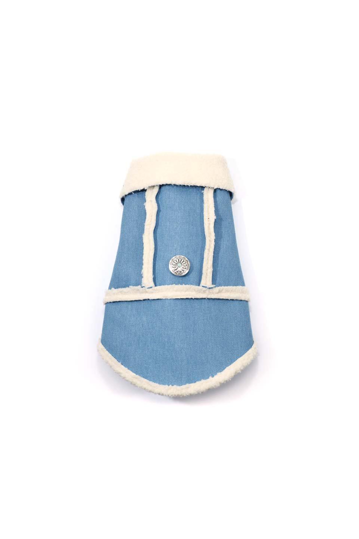 DenimShearlingDoggieVestデニムムートン・ドッグベスト大人カジュアルに最適な海外ファッションのothers(その他インポートアイテム)のドッググッズや。見た目もGoodなデニムムートンのベスト。大きめの襟が可愛いデザインです。/main-10