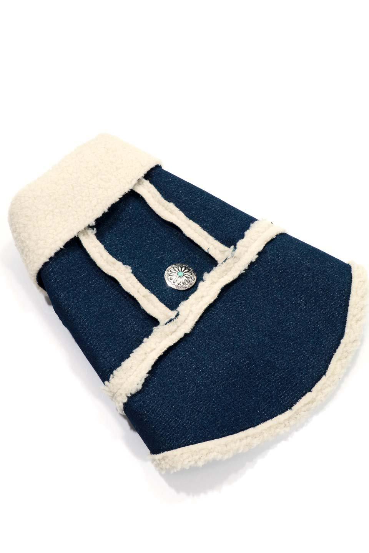 DenimShearlingDoggieVestデニムムートン・ドッグベスト大人カジュアルに最適な海外ファッションのothers(その他インポートアイテム)のドッググッズや。見た目もGoodなデニムムートンのベスト。大きめの襟が可愛いデザインです。/main-6