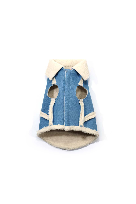 DenimShearlingDoggieVestデニムムートン・ドッグベスト大人カジュアルに最適な海外ファッションのothers(その他インポートアイテム)のドッググッズや。見た目もGoodなデニムムートンのベスト。大きめの襟が可愛いデザインです。/main-9