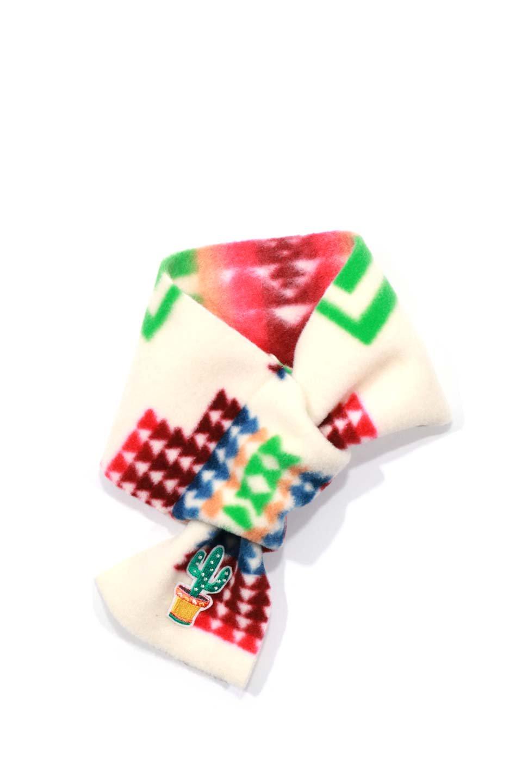 OrtegaPatternedDoggieMufflerオルテガ柄・フリースマフラー大人カジュアルに最適な海外ファッションのothers(その他インポートアイテム)のドッググッズや。アメリカンなオルテガ柄のフリースマフラー。カラフルで抜群の可愛さのワンちゃんアイテム。/main-6