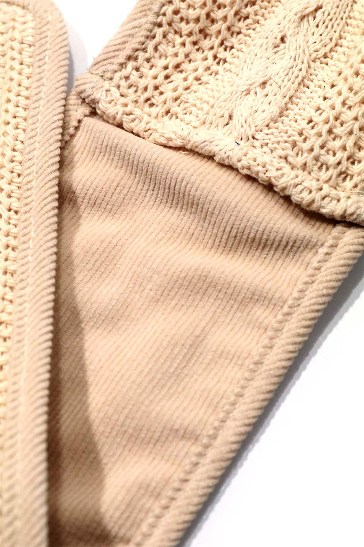 """CableKnitDoggieMufflerケーブルニット・ドギーマフラー大人カジュアルに最適な海外ファッションのothers(その他インポートアイテム)のドッググッズや。""""人""""用顔負けのケーブルニットのワンちゃんマフラー。ニットだけだと伸びてしまうのでパイピングと裏地はコーデュロイを使用。/main-6"""