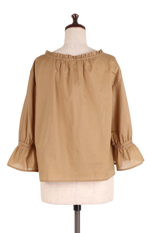 FrilledStandCollarBlouseフリルスタンドカラー・刺繍ブラウス大人カジュアルに最適な海外ファッションのothers(その他インポートアイテム)のトップスやシャツ・ブラウス。低めのフリルスタンドカラーがポイントの刺繍ブラウス。人気のフリルスタンドカラーを首元が広めのボートネック風にしたアイテム。/main-14