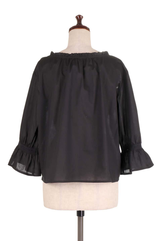 FrilledStandCollarBlouseフリルスタンドカラー・刺繍ブラウス大人カジュアルに最適な海外ファッションのothers(その他インポートアイテム)のトップスやシャツ・ブラウス。低めのフリルスタンドカラーがポイントの刺繍ブラウス。人気のフリルスタンドカラーを首元が広めのボートネック風にしたアイテム。/main-19