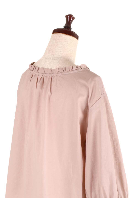 FrilledStandCollarBlouseフリルスタンドカラー・刺繍ブラウス大人カジュアルに最適な海外ファッションのothers(その他インポートアイテム)のトップスやシャツ・ブラウス。低めのフリルスタンドカラーがポイントの刺繍ブラウス。人気のフリルスタンドカラーを首元が広めのボートネック風にしたアイテム。/main-21