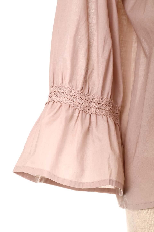 FrilledStandCollarBlouseフリルスタンドカラー・刺繍ブラウス大人カジュアルに最適な海外ファッションのothers(その他インポートアイテム)のトップスやシャツ・ブラウス。低めのフリルスタンドカラーがポイントの刺繍ブラウス。人気のフリルスタンドカラーを首元が広めのボートネック風にしたアイテム。/main-25