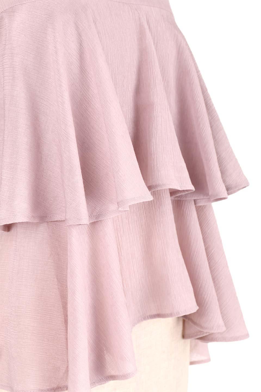 BellSleeveTieredBlouseベルスリーブ・ティアードブラウス大人カジュアルに最適な海外ファッションのothers(その他インポートアイテム)のトップスやシャツ・ブラウス。大きめに段を取ったフリルが特徴のブラウス。適度なショート丈で春っぽいコーディネートができます。/main-19
