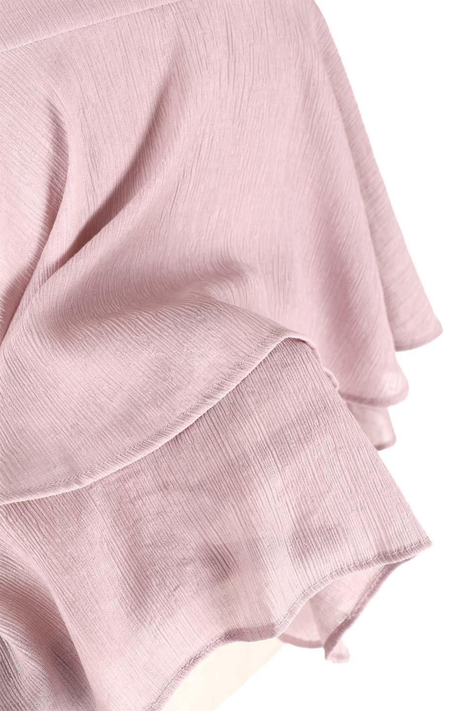 BellSleeveTieredBlouseベルスリーブ・ティアードブラウス大人カジュアルに最適な海外ファッションのothers(その他インポートアイテム)のトップスやシャツ・ブラウス。大きめに段を取ったフリルが特徴のブラウス。適度なショート丈で春っぽいコーディネートができます。/main-20