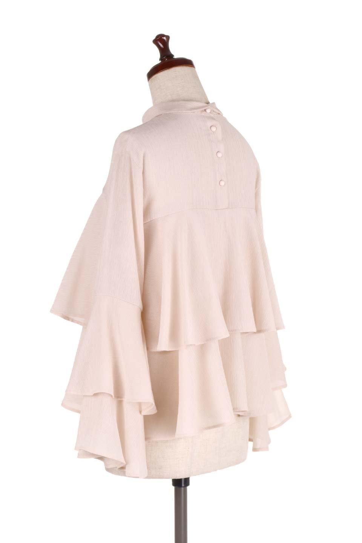 BellSleeveTieredBlouseベルスリーブ・ティアードブラウス大人カジュアルに最適な海外ファッションのothers(その他インポートアイテム)のトップスやシャツ・ブラウス。大きめに段を取ったフリルが特徴のブラウス。適度なショート丈で春っぽいコーディネートができます。/main-8