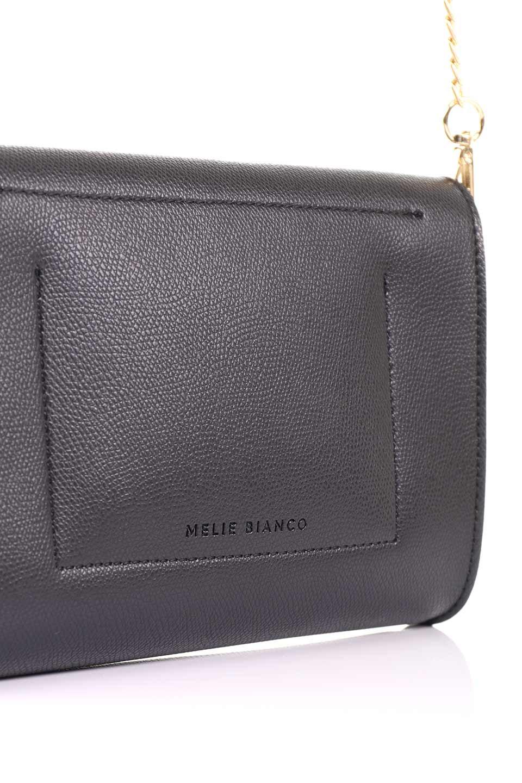 meliebiancoのElsa(Black)2WAYショルダーバッグ/海外ファッション好きにオススメのインポートバッグとかばん、MelieBianco(メリービアンコ)のバッグやショルダーバッグ。ストラップを取り外してクラッチバッグにもなる2WAYショルダーバッグ。スマホと流行のミニ財布でお出かけするときにピッタリなショルダーバッグです。/main-11